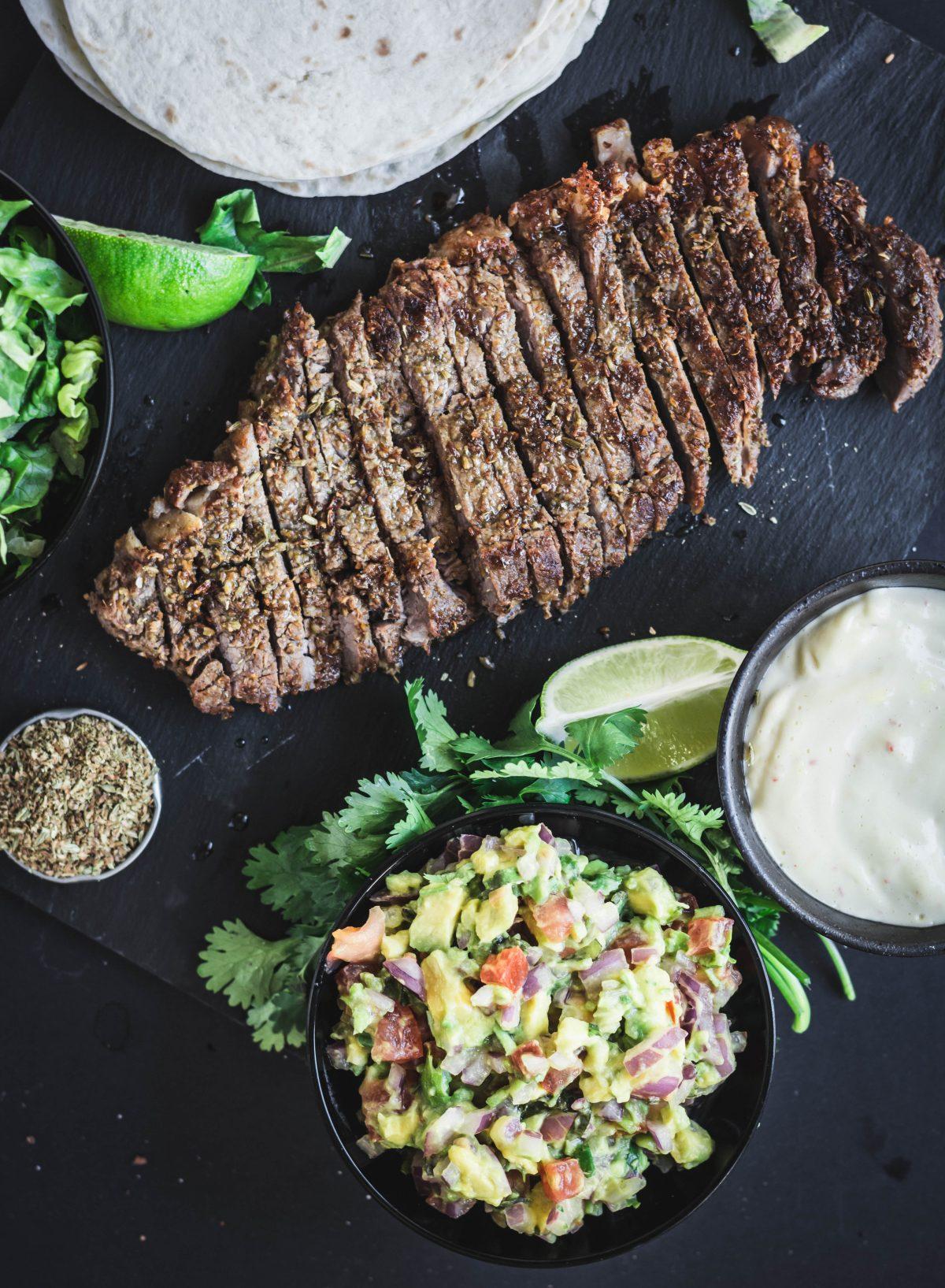 Beef steak Tortillas, Avocado Salsa, Chilli Mayonnaise - thespiceadventuress.com