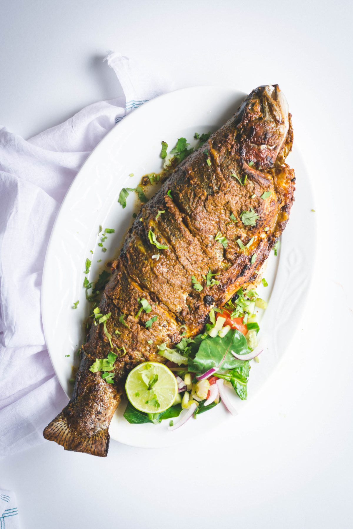 Sindhi style Grilled Fish - thespiceadventuress.com