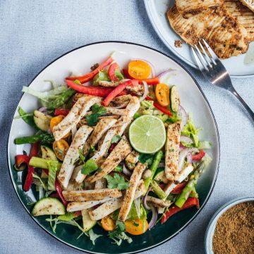 Spicy grilled calamari salad - thespiceadventuress.com