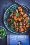 Tamarind Chilli Crispy Skin Salmon with Green Mango Herb Salad - thespiceadventuress.com