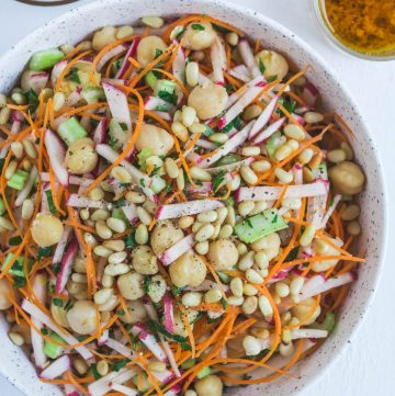 Chickpea, Carrot & Radish Salad - thespiceadventuress.com