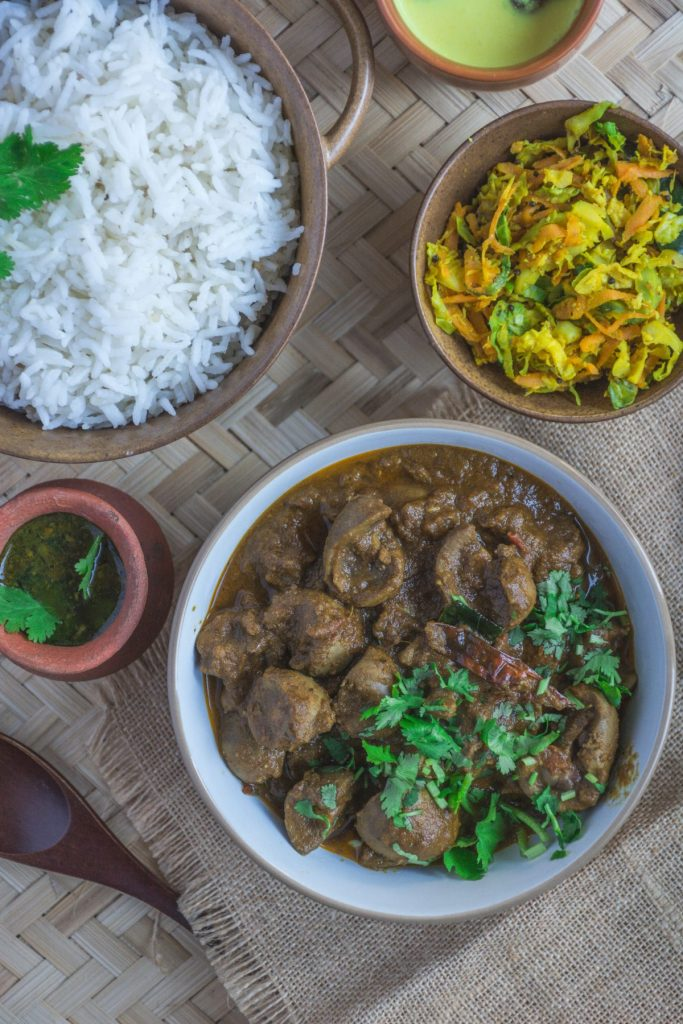 South Indian style Mutton Kidney Roast - thespiceadventuress.com