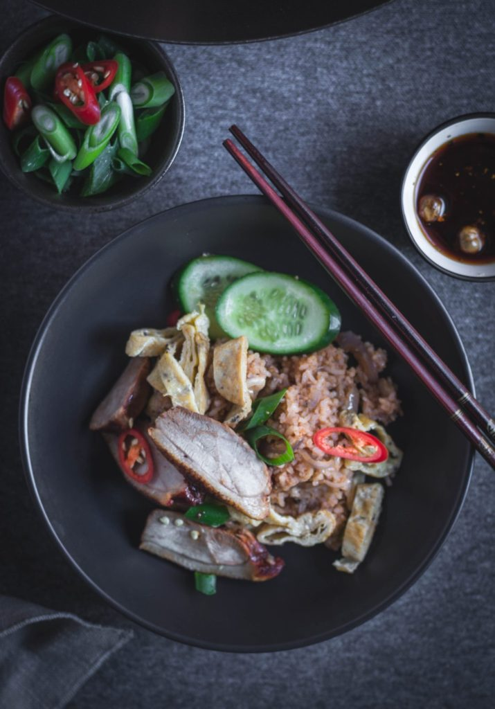 Thai style Duck Fried Rice - thespiceadventuress.com